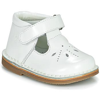 Shoes Girl Flat shoes Citrouille et Compagnie OTAL White / Varnish