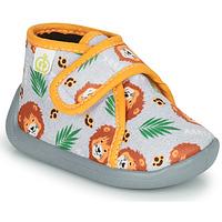 Shoes Boy Slippers Citrouille et Compagnie PASTACARBO Grey
