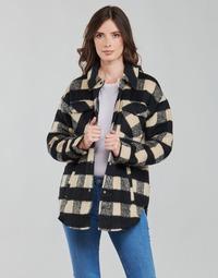 Clothing Women Jackets / Blazers Noisy May NMLULU Beige / Black