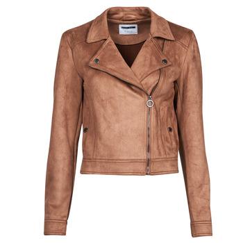 Clothing Women Leather jackets / Imitation leather Noisy May NMROCKY Cognac