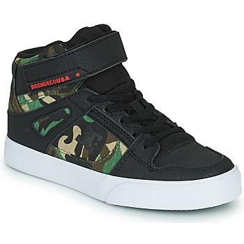 Shoes Boy Hi top trainers DC Shoes PURE HIGH-TOP EV Black / Camouflage