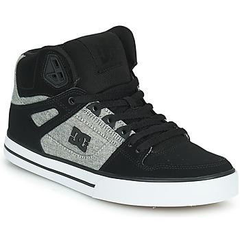 Shoes Men Hi top trainers DC Shoes PURE HIGH-TOP WC Black / Grey