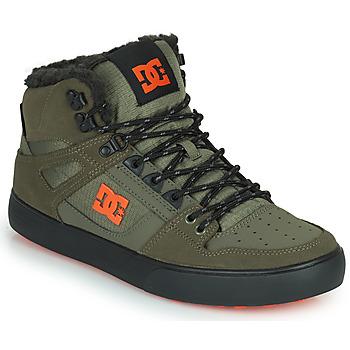 Shoes Men Hi top trainers DC Shoes PURE HIGH-TOP WC WNT Kaki / Black