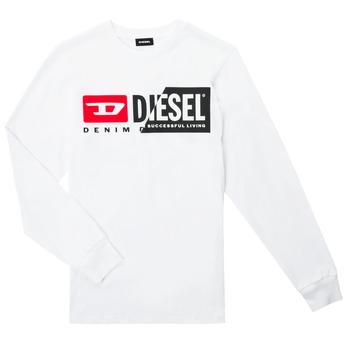 Clothing Children Long sleeved tee-shirts Diesel TDIEGOCUTY ML White