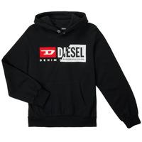 Clothing Children Sweaters Diesel SGIRKHOODCUTYX OVER Black