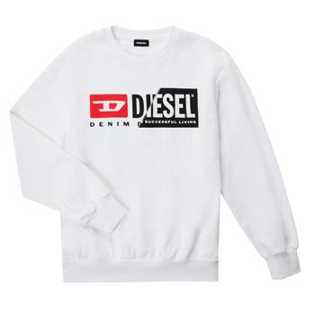 Clothing Children Sweaters Diesel SGIRKCUTY OVER White