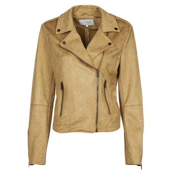 Clothing Women Leather jackets / Imitation leather Vila VIFADDY Camel