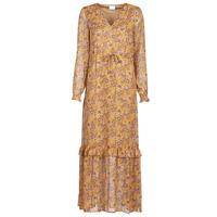 Clothing Women Long Dresses Vila VIFALIA Cognac