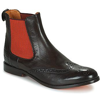 Shoes Women Mid boots Melvin & Hamilton AMELIE 5 Brown / Orange