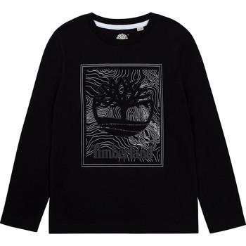 Clothing Boy Long sleeved tee-shirts Timberland BAGIRI Black