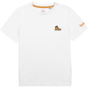Clothing Boy Short-sleeved t-shirts Timberland BANIOS White