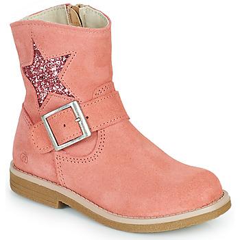 Shoes Girl Mid boots Citrouille et Compagnie POUDRE Pink