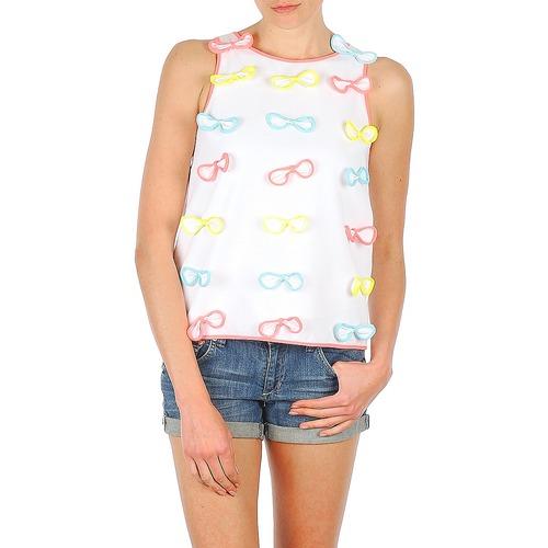 Clothing Women Tops / Sleeveless T-shirts Manoush TOP NOEUD NOEUD White