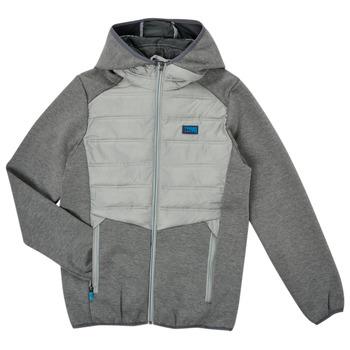 Clothing Boy Jackets Jack & Jones JCOTOBY HYBRID JACKET Grey