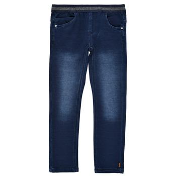 Clothing Girl Leggings Name it NMFSALLI DNMTORINA Blue / Raw