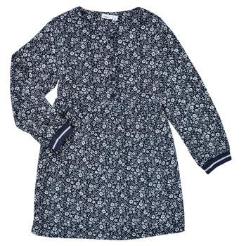 Clothing Girl Short Dresses Name it NKFKARINFRA LS DRESS Marine