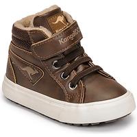 Shoes Boy Hi top trainers Kangaroos KAVU III Brown