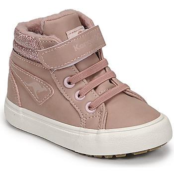 Shoes Girl Hi top trainers Kangaroos KAVU III Pink