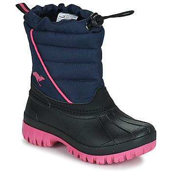 Shoes Girl Snow boots Kangaroos K-BEN Blue / Pink