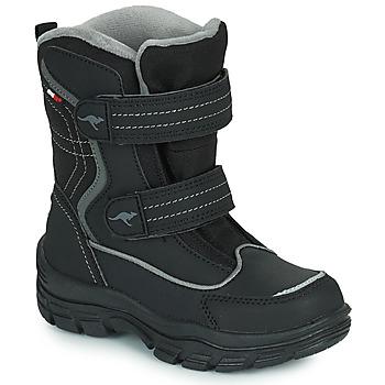 Shoes Children Snow boots Kangaroos K-LENO V RTX Black