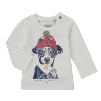 Clothing Boy Long sleeved tee-shirts Ikks AUBERGINE White