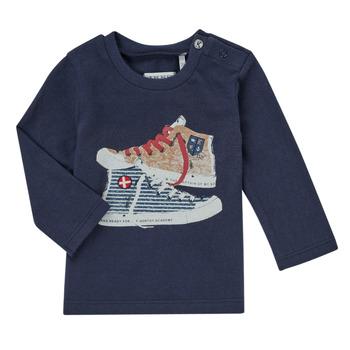 Clothing Boy Long sleeved tee-shirts Ikks AURORE Marine