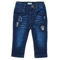 Clothing Boy Straight jeans Ikks ACIER Blue / Dark