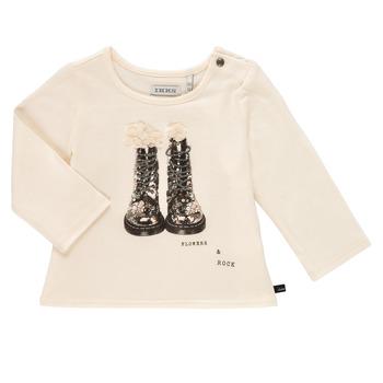 Clothing Girl Long sleeved tee-shirts Ikks PAON White
