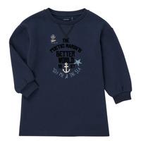 Clothing Girl Short Dresses Ikks MANDARINE Marine