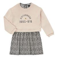 Clothing Girl Short Dresses Ikks MENTHE Beige