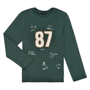 Clothing Boy Long sleeved tee-shirts Ikks TOMETTE Kaki