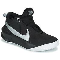 Shoes Children Hi top trainers Nike TEAM HUSTLE D 10 (GS) Black / Silver