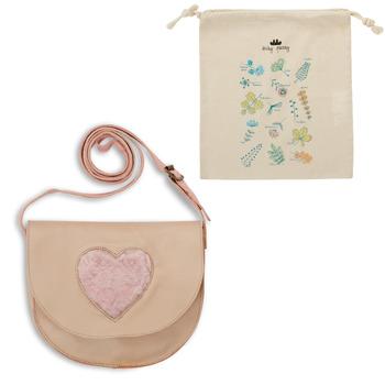 Bags Children Small shoulder bags Easy Peasy HANDIDOO COEUR FOURRURE Beige