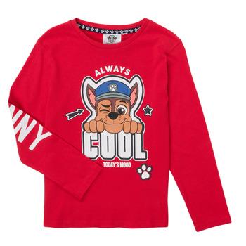 Clothing Boy Long sleeved tee-shirts TEAM HEROES  TEE PAW PATROL Red