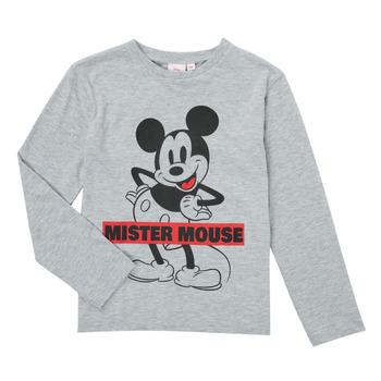 Clothing Boy Long sleeved tee-shirts TEAM HEROES  TEE MICKEY Grey