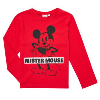Clothing Boy Long sleeved tee-shirts TEAM HEROES  TEE MICKEY Red