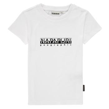 Clothing Boy Short-sleeved t-shirts Napapijri S-BOX SS White