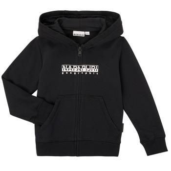 Clothing Boy Sweaters Napapijri B-BOX FZH Black