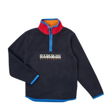 Clothing Boy Fleeces Napapijri TILO HZ Marine