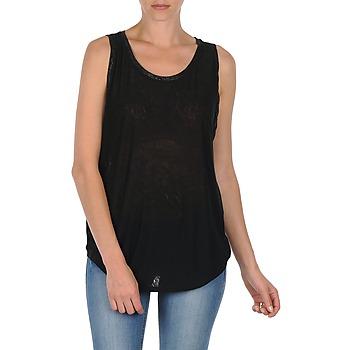 Clothing Women Tops / Sleeveless T-shirts Majestic MANON Black