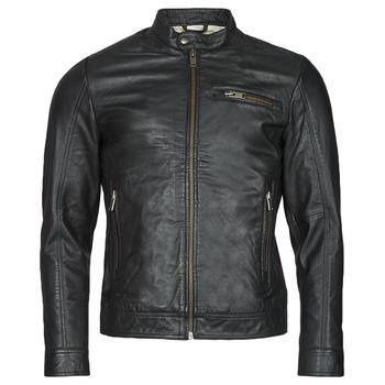 Clothing Men Leather jackets / Imitation leather Selected SLHICONIC Black