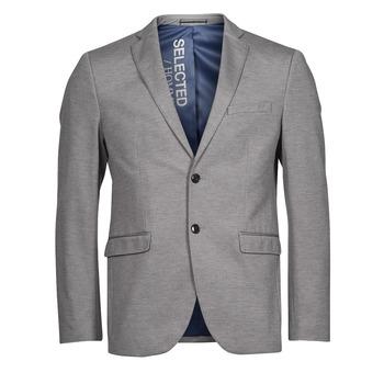 Clothing Men Jackets / Blazers Selected SLHSLIM JIM Grey