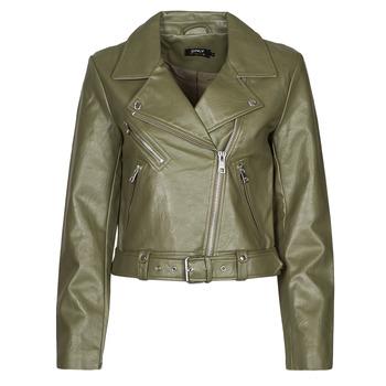 Clothing Women Leather jackets / Imitation leather Only ONLVERA Kaki