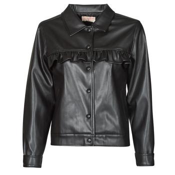 Clothing Women Leather jackets / Imitation leather Moony Mood PABLIS Black