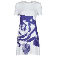 Clothing Women Short Dresses Desigual WASHINTONG White / Blue