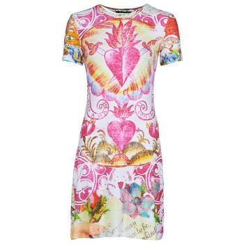 Clothing Women Short Dresses Desigual TATTO Multicolour