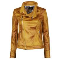 Clothing Women Leather jackets / Imitation leather Desigual MARBLE Yellow