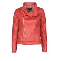 Clothing Women Leather jackets / Imitation leather Desigual MARBLE Red
