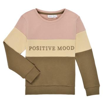 Clothing Girl Sweaters Name it NKFLIBEL LS SWEAT Beige / Pink / Kaki