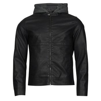 Clothing Men Leather jackets / Imitation leather Jack & Jones JCOWILLY Black